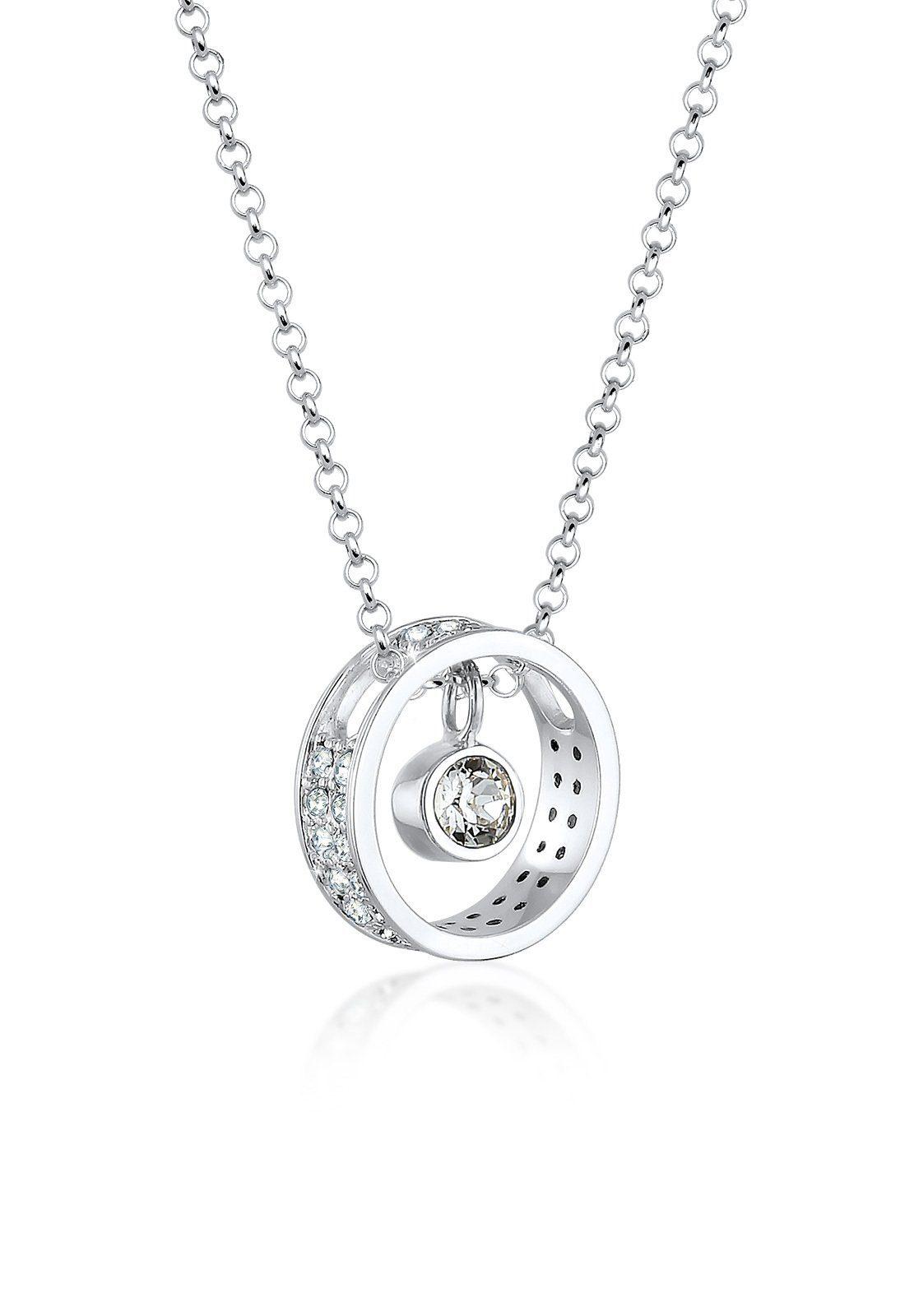 Elli Halskette »Anhänger Swarovski® Kristalle 925 Sterling Silber«