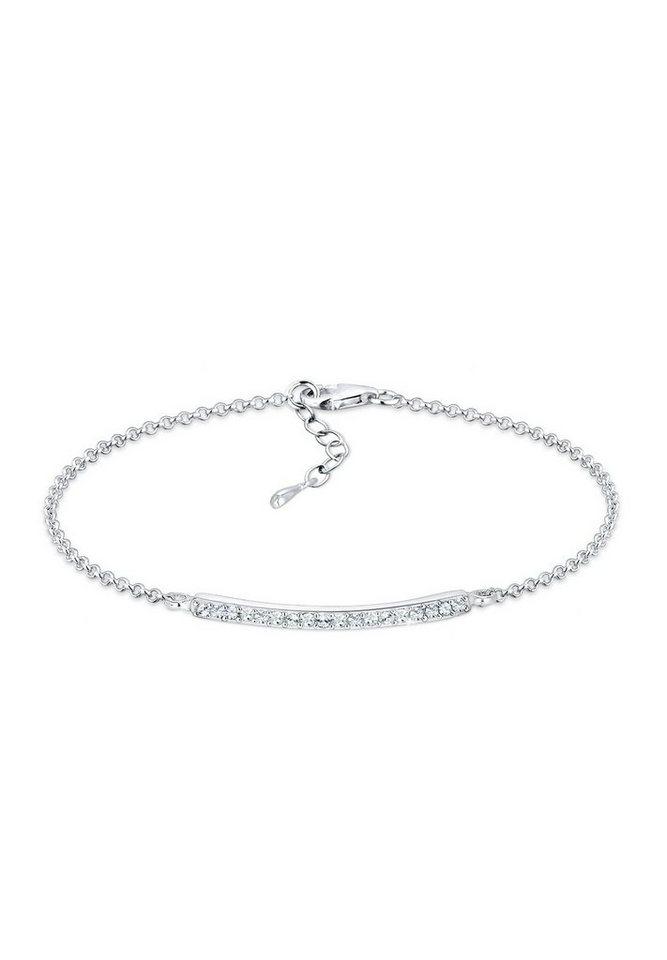 Elli Armband »Funkelnd Swarovski® Kristalle 925 Sterling Silber« in Weiß