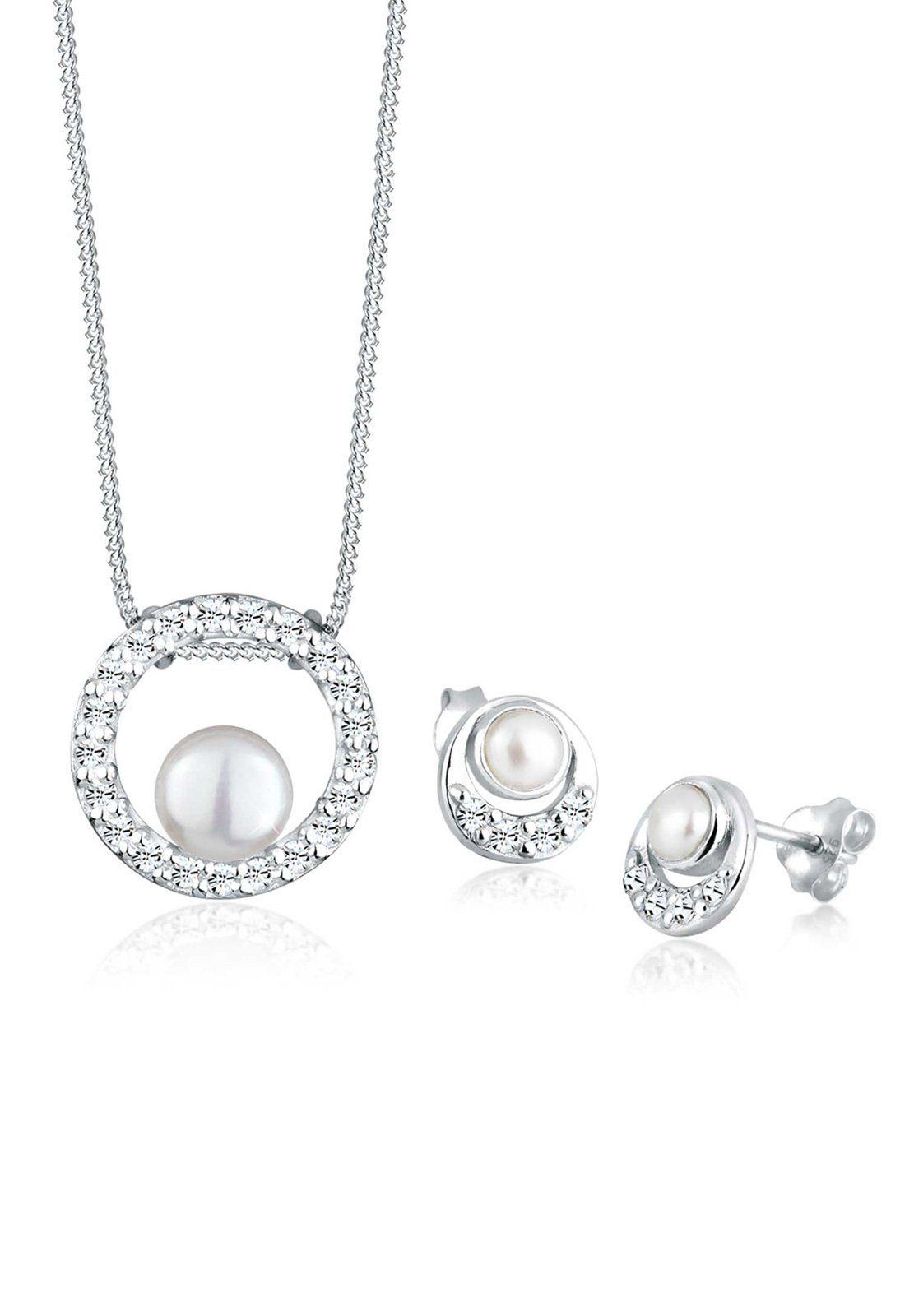 Perlu Set: Schmuckset »Perle Swarovski® Kristall 925 Silber« 2 tlg.