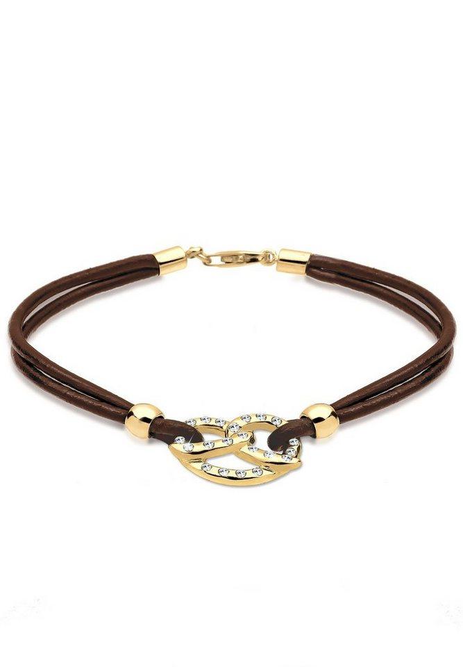 Goldhimmel Armband »Brezel Swarovski Kristalle 925 Sterling Silber« in Gold