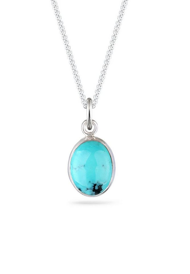 Elli Halskette »Basic Edelstein Howlit Türkis 925 Sterling Silber« in Blau