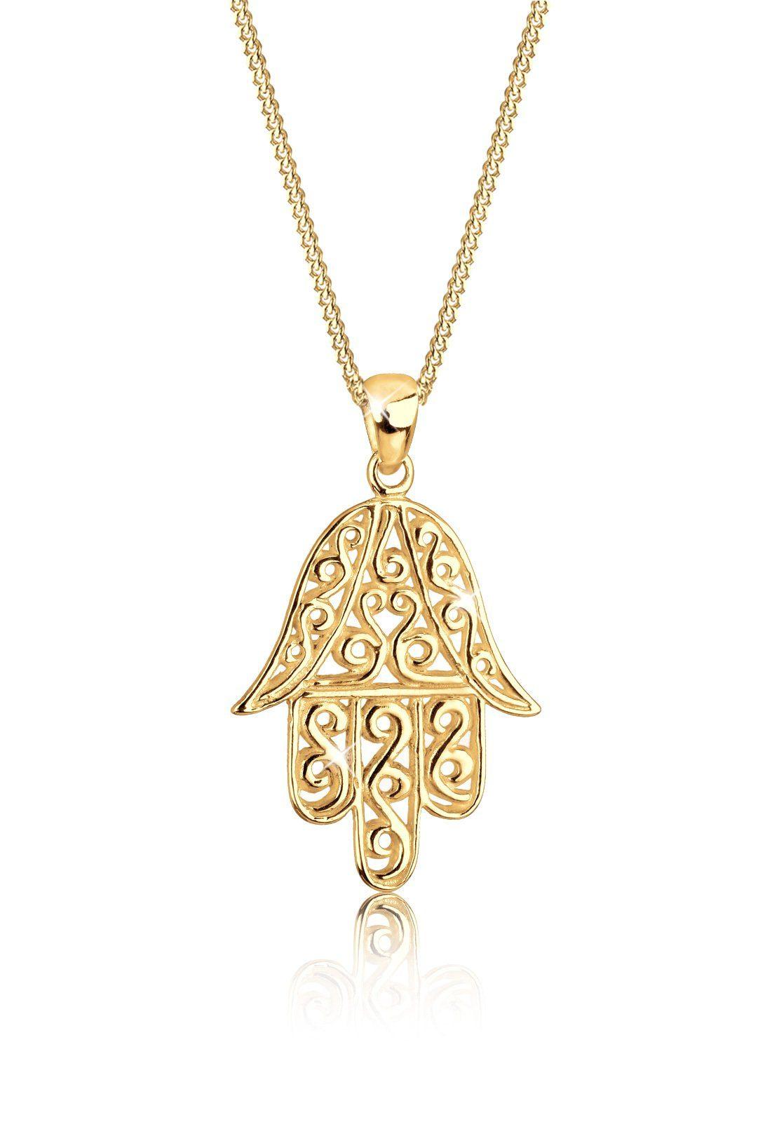 Goldhimmel Halskette »Hamsa Hand Spirituell 925 Sterling Silber«