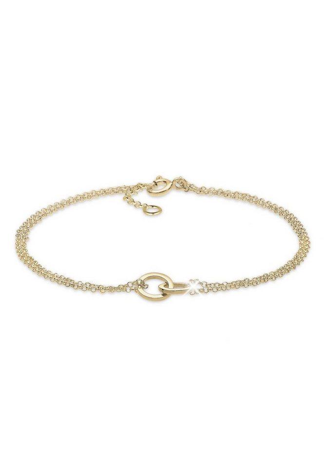 Elli Armband »Kreis 375 Gelbgold« in Gold