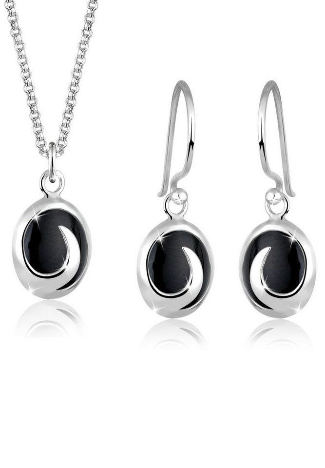 Elli Set: Schmuckset »Onyx 925 Sterling Silber« 2 tlg. in Schwarz