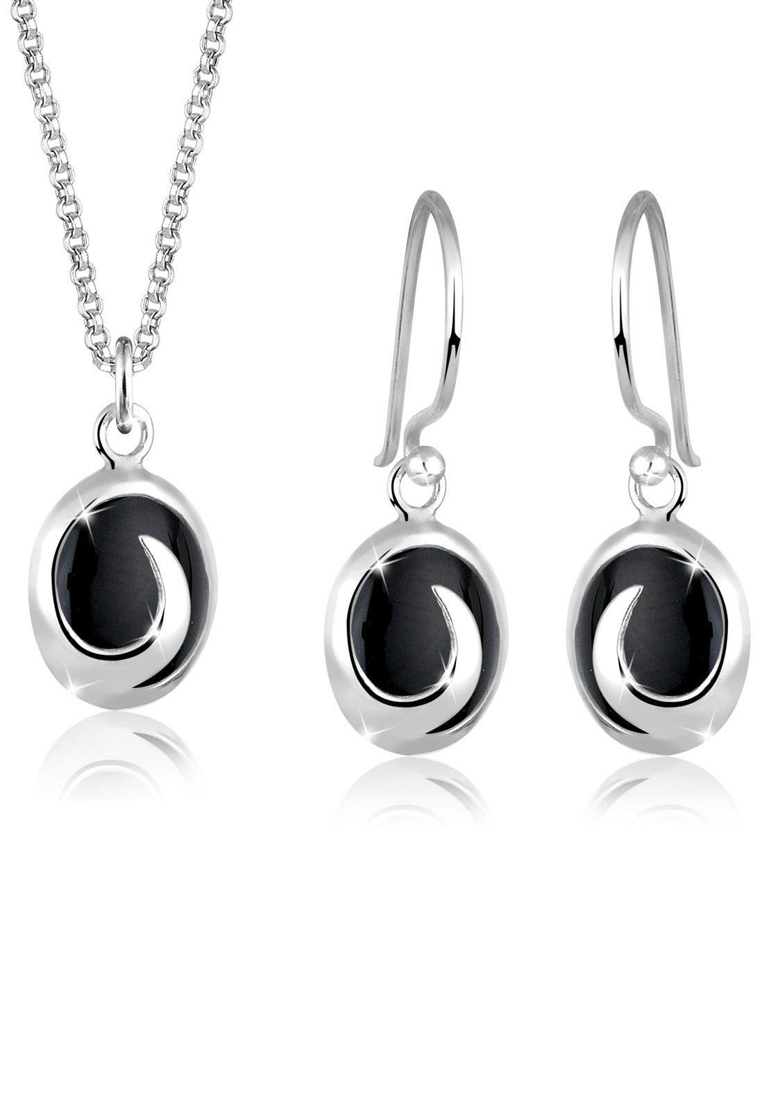 Elli Set: Schmuckset »Onyx 925 Sterling Silber« 2 tlg.