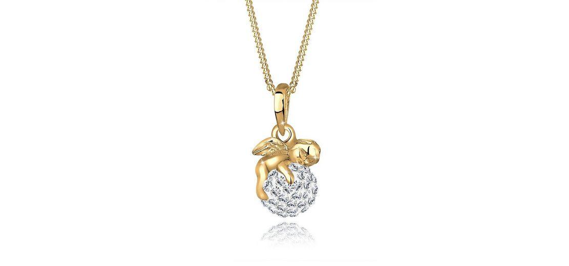Goldhimmel Halskette »Engel Swarovski Kristalle 925 Sterling Silber«