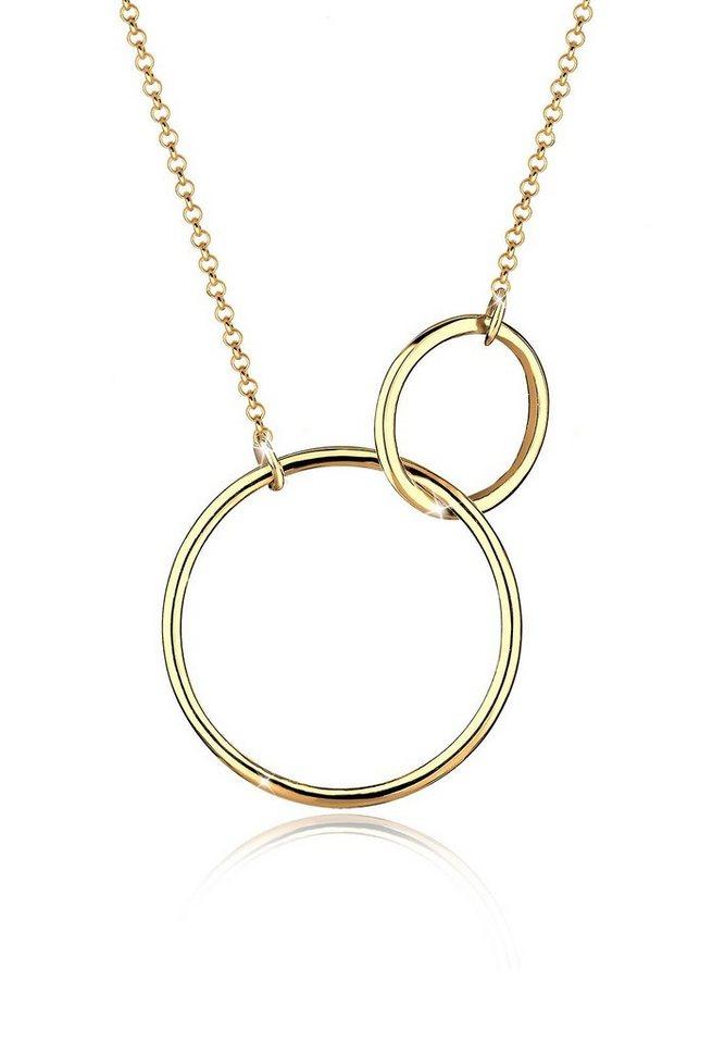 Goldhimmel Halskette »925 Sterling Silber Kreise vergoldet« in Gold