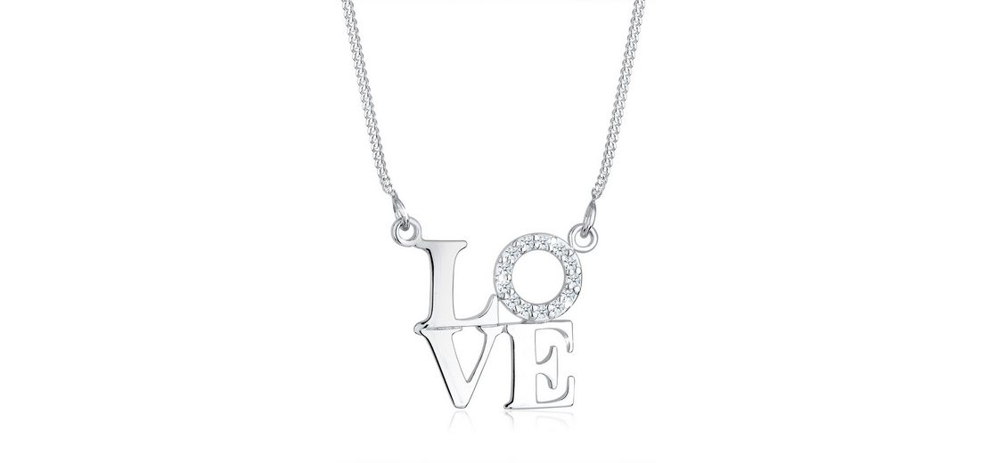 Diamore Halskette »925 Sterling Silber Diamand Love«