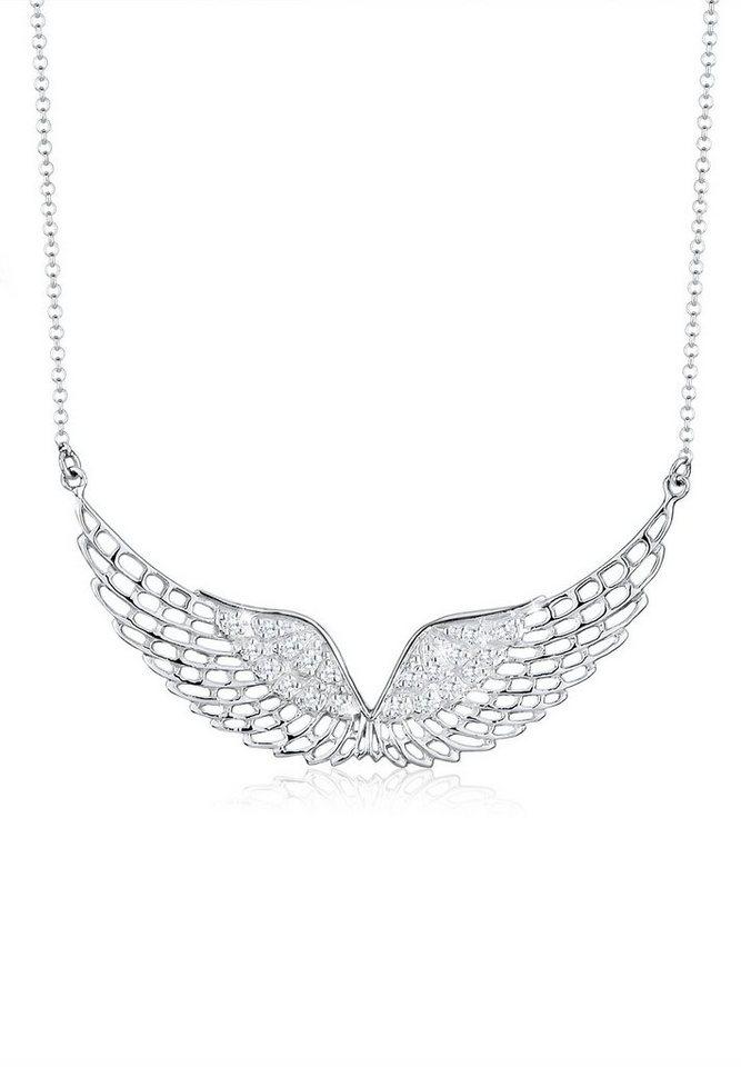 Elli Halskette »Flügel Wing 925 Sterling Silber« in Weiß