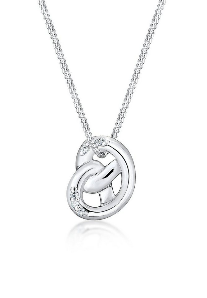 Elli Halskette »Brezel Swarovski® Kristalle 925 Sterling Silber« in Silber