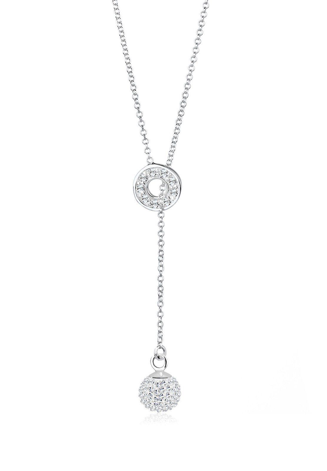 Elli Halskette »Y-Kette Swarovski® Kristalle 925 Sterling Silber«