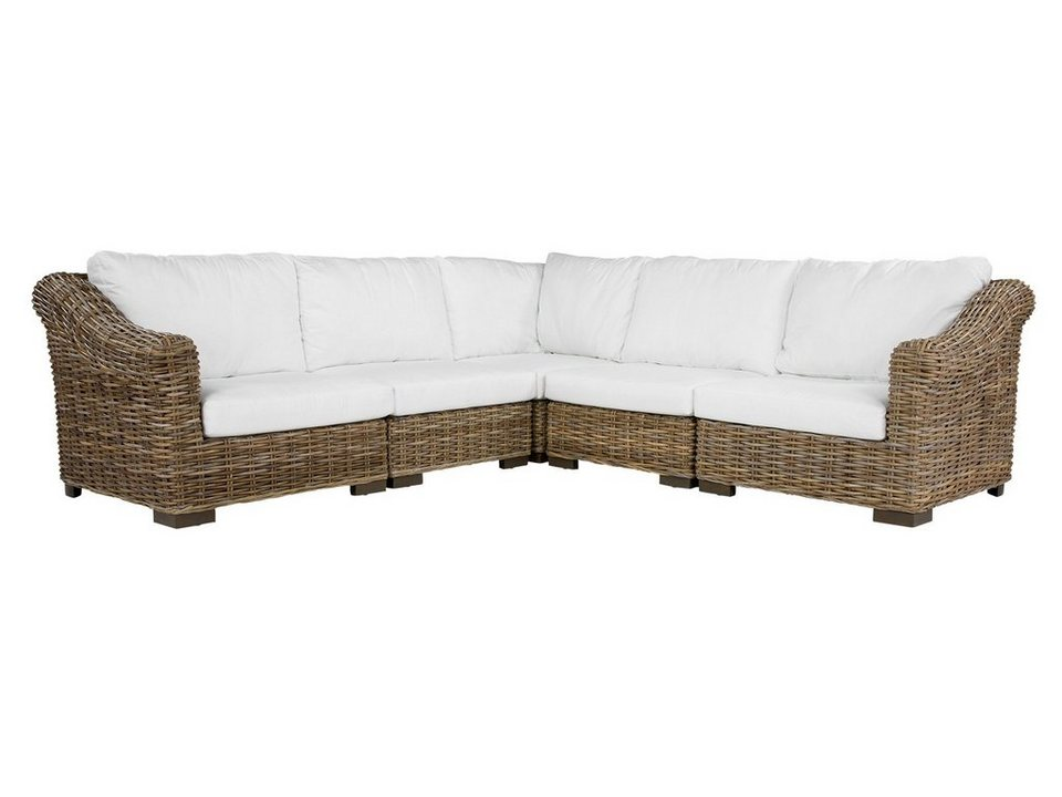 massivum Sofa aus Kubu-Rattan »Talara« in grau