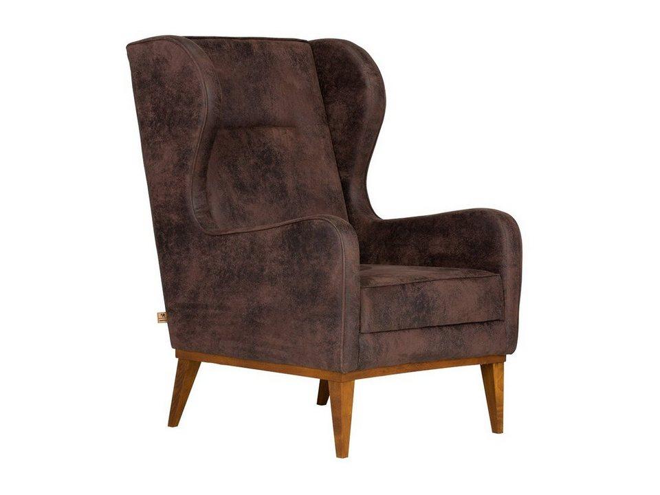 massivum Sessel aus Flachgewebe »Asaka « in braun