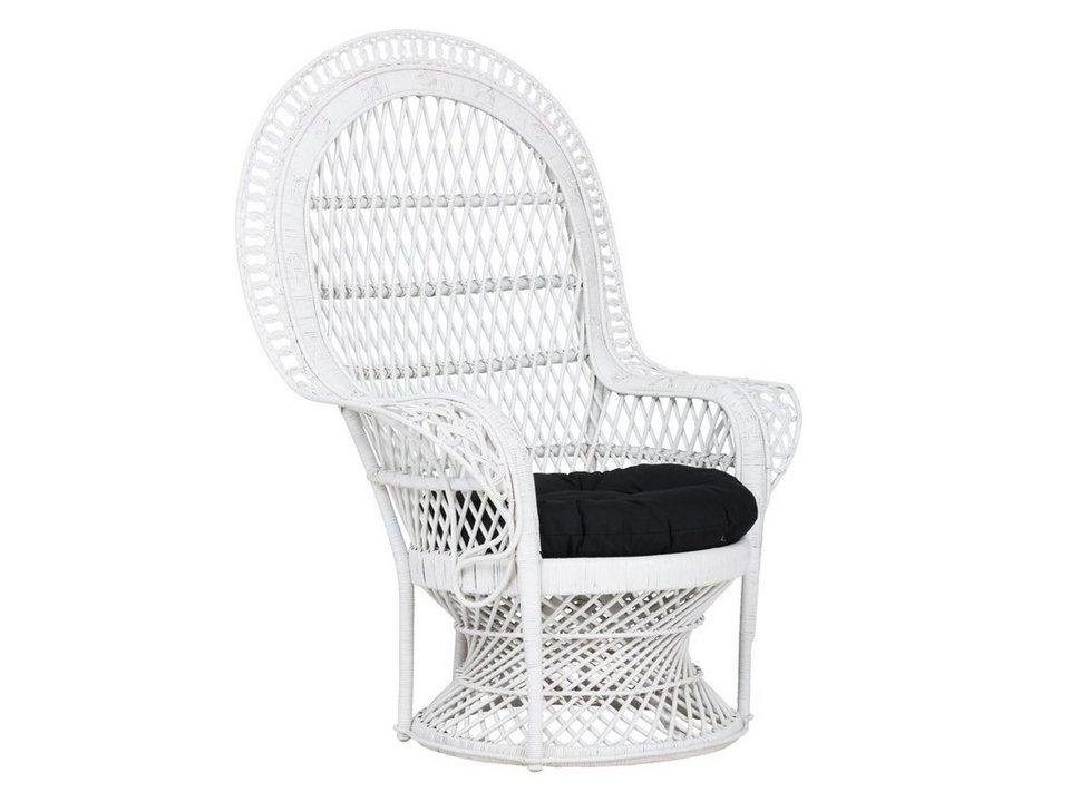 massivum Sessel aus Rattan »Abebi« in weiß