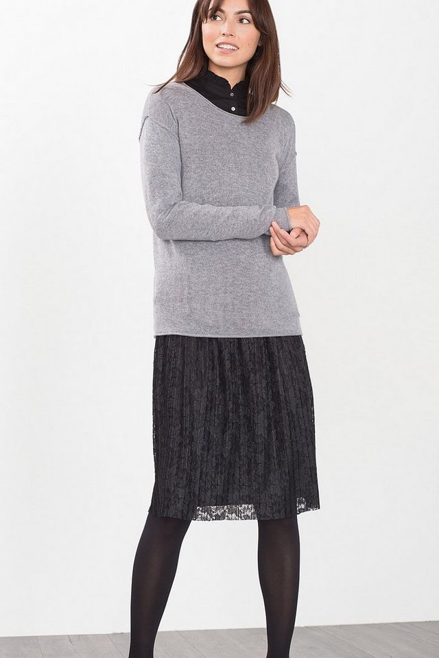 ESPRIT CASUAL Pulli mit Inside-Out-Nähten, Cashmere-Mix in GREY