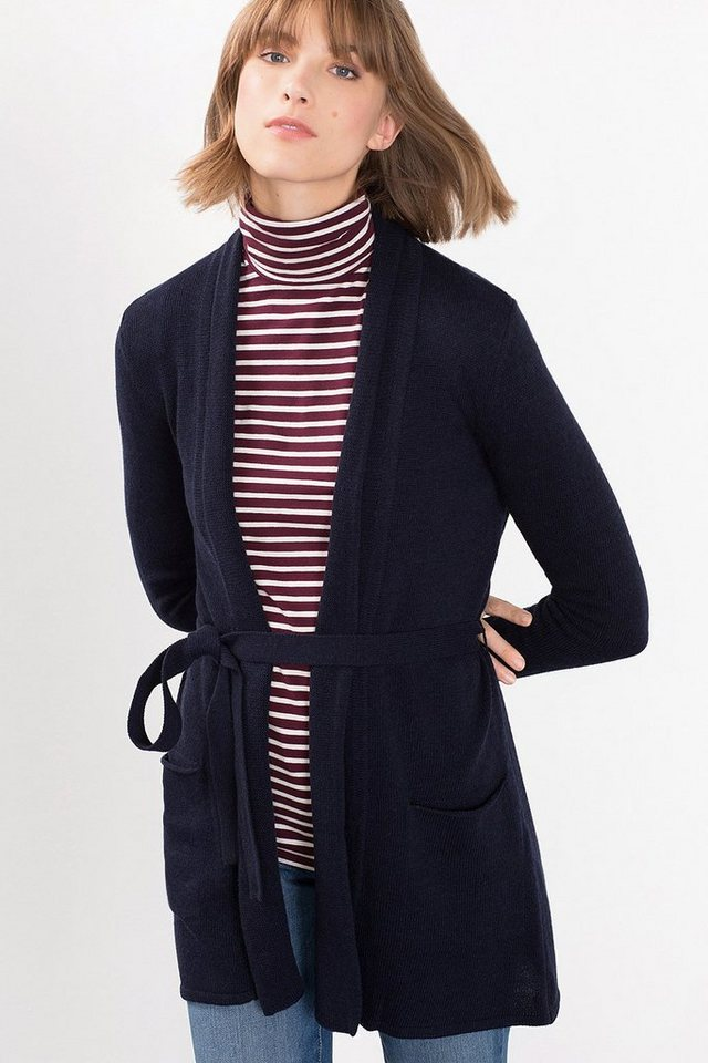 ESPRIT COLLECTION Offener Cardigan mit Wolle in NAVY