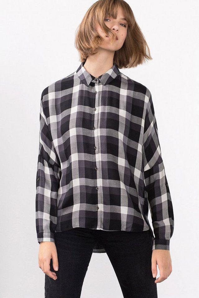 ESPRIT CASUAL Fließende Oversize-Hemdbluse in BLACK