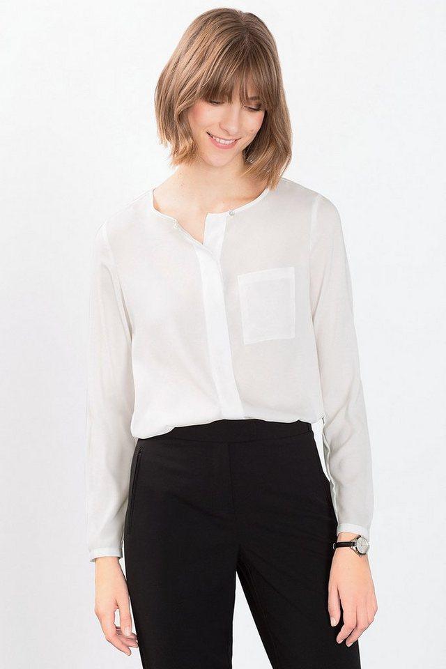 ESPRIT COLLECTION Fließende Bluse in pflegeleichter Qualität in OFF WHITE