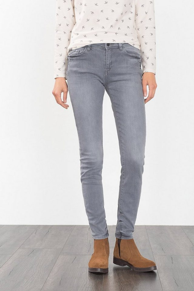 ESPRIT CASUAL Graue Stretch-Denim mit Zipper-Taschen in GREY MEDIUM WASHED