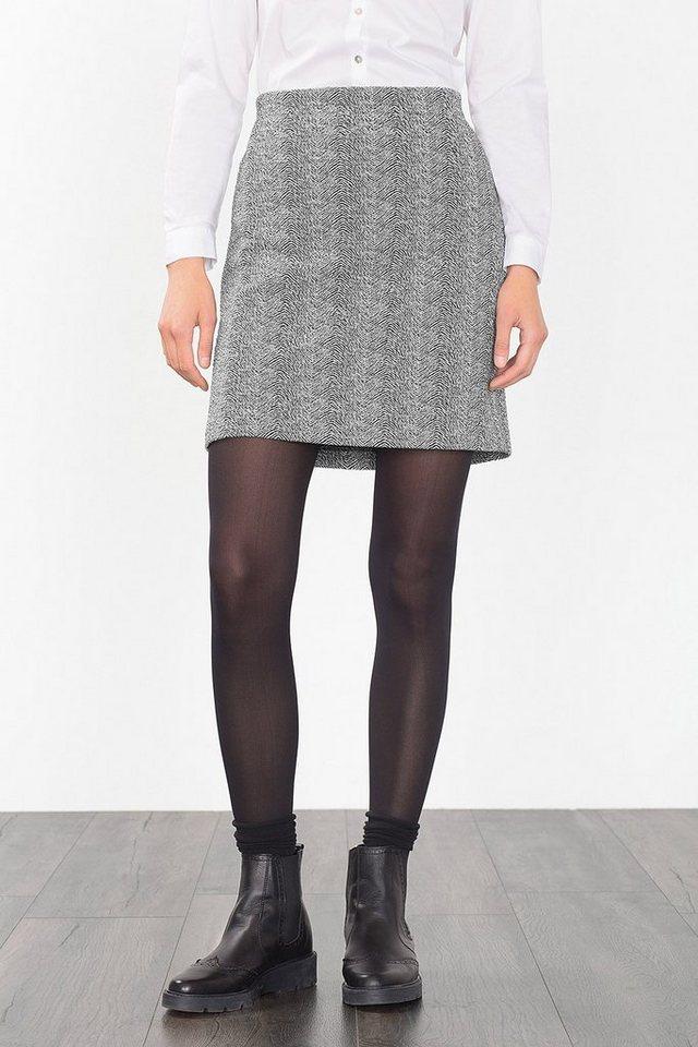 ESPRIT CASUAL Jersey-Minirock mit 2-tone-Struktur in BLACK