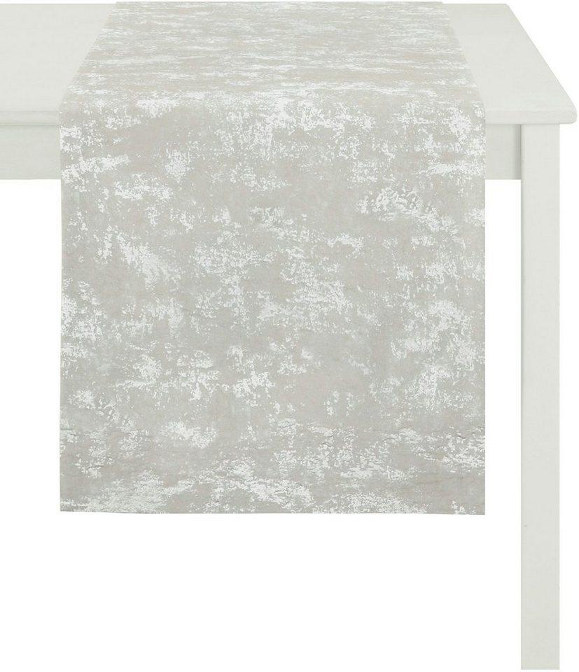 Tischläufer, Apelt, »5204 CHRISTMAS ELEGANCE« in ecru/silber
