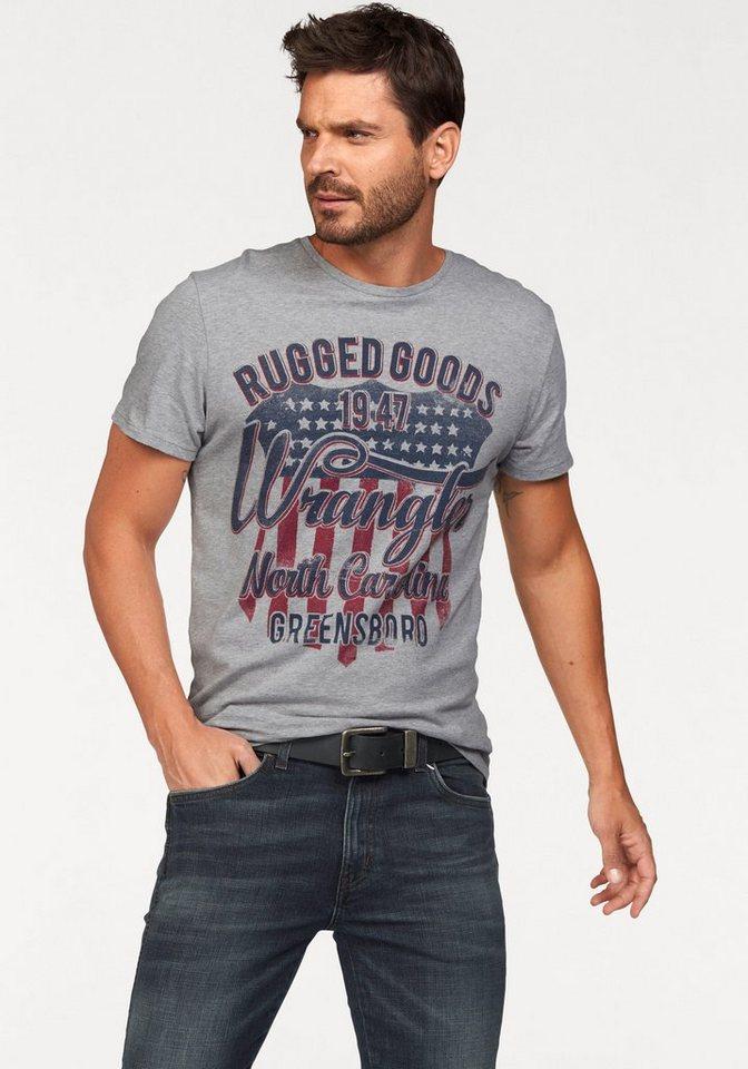 Wrangler T-Shirt in mittelgrau-meliert