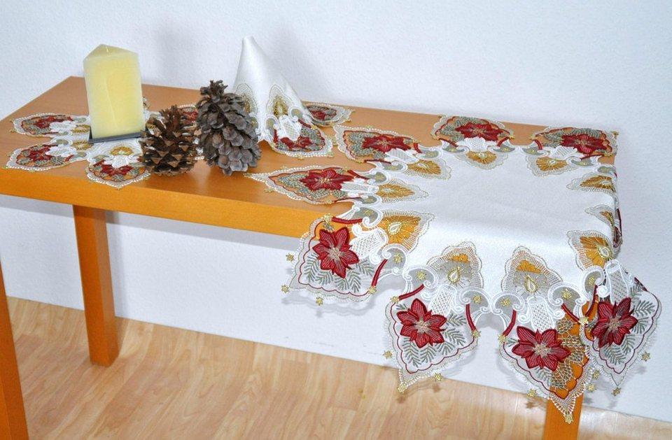 Tischdecke, Stickereien Plauen, »Kerzenschein« in bunt