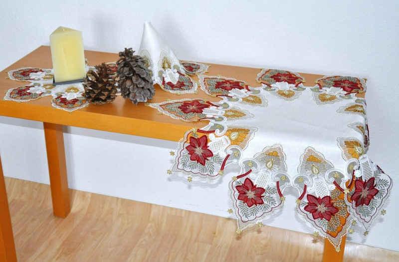 Stickereien Plauen Tischdecke »Kerzenschein«