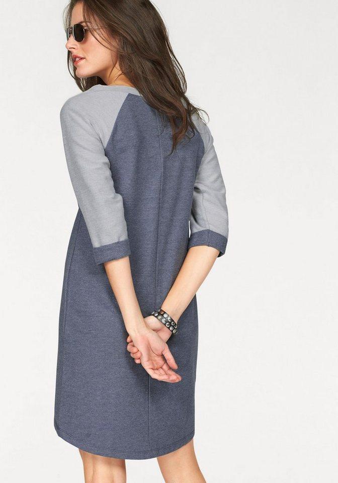 Aniston Sweatkleid in jeansblau