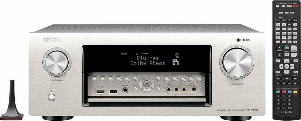 Heos by Denon AVR-X4300H 11.2 AV-Receiver (Hi-Res, Spotify, Airplay, WLAN) in silberfarben