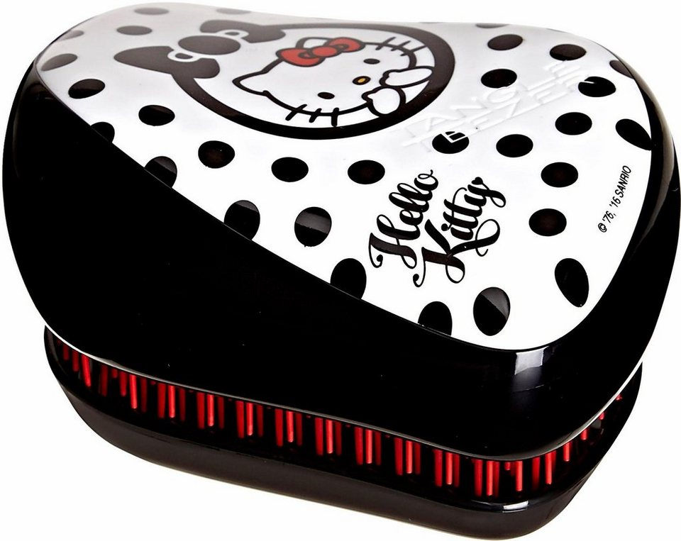 Tangle Teezer, »Compact Styler Hello Kitty«, Haarbürste zum Entknoten von Haaren in Schwarz-weiß