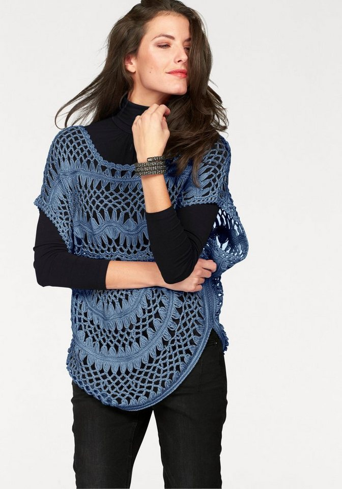 Aniston Poncho in blau