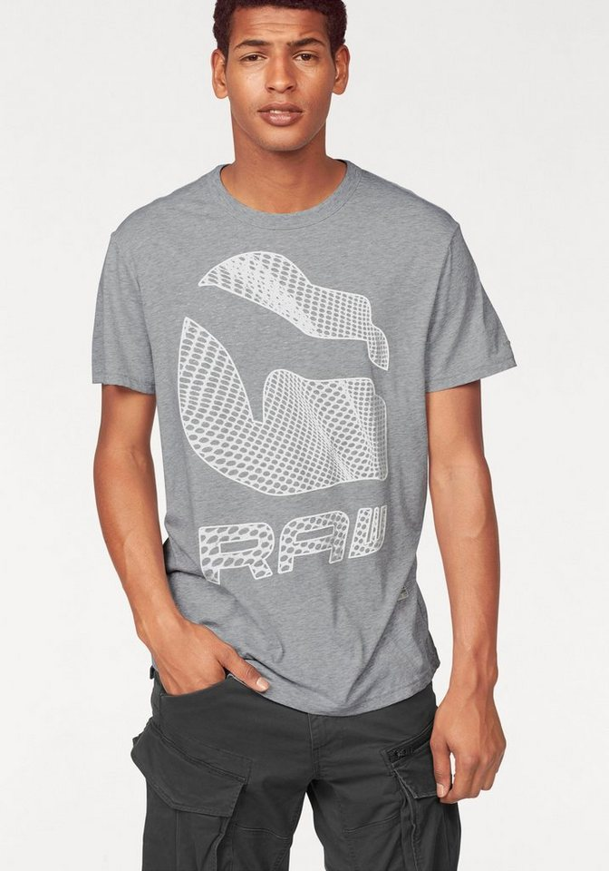 G-Star T-Shirt in grau-meliert