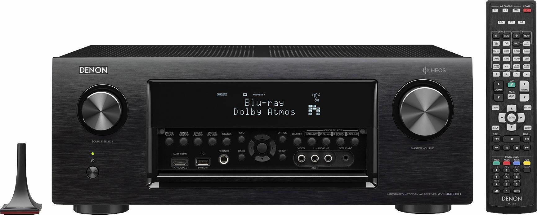 Heos by Denon AVR-X4300H 11.2 AV-Receiver (Hi-Res, Spotify, Airplay, WLAN)