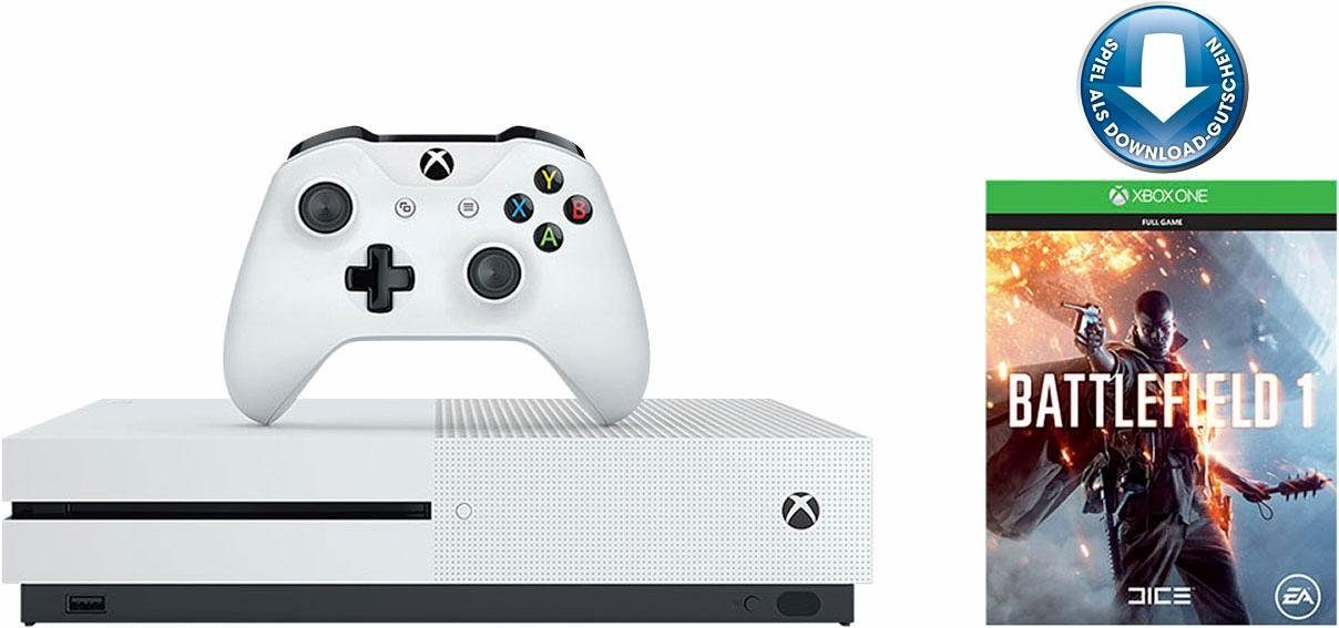 Xbox One S 500 GB + Battlefield 1 (DLC), 4K Ultra HD