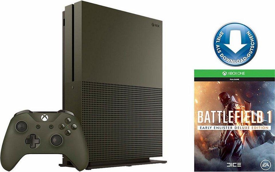 Xbox One S 1TB + Battlefield 1 (DLC), 4K Ultra HD in grün