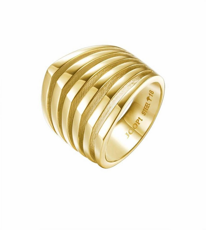 Joop! Fingerring »JP-T Lines, JPRG10645B« in goldfarben