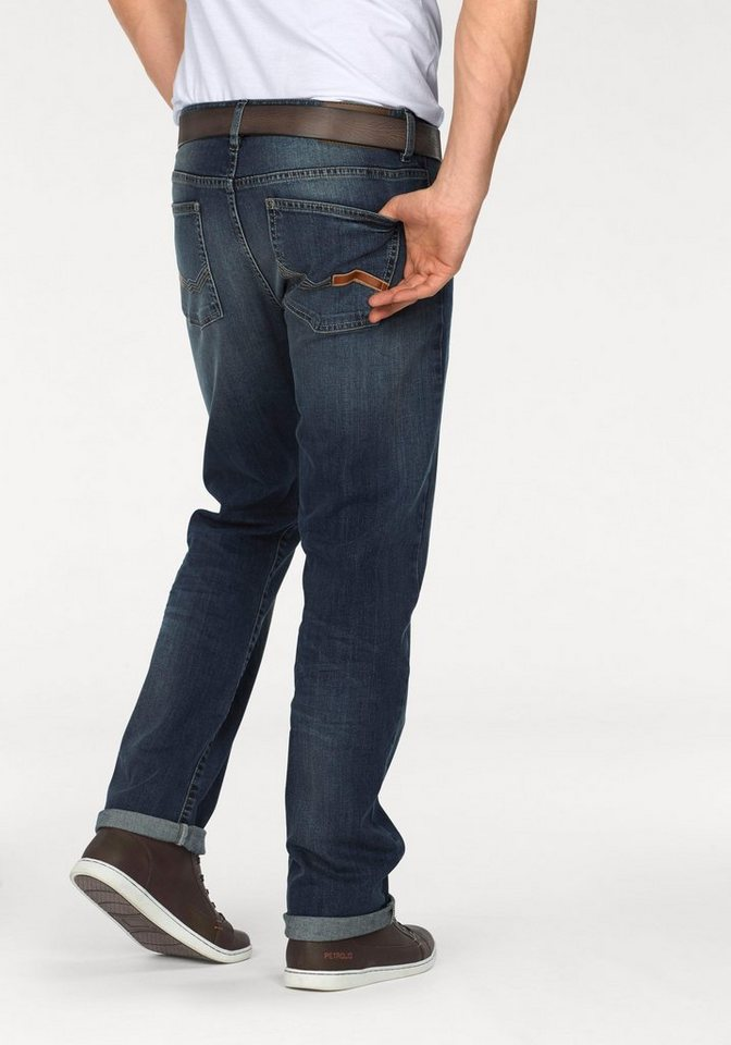Rhode Island 5-Pocket-Jeans »Dixon« in blue-used