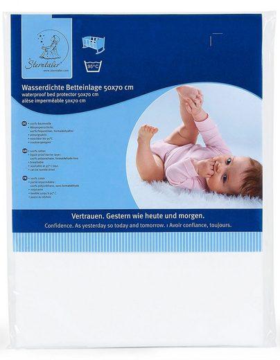 Matratzenauflage, Sterntaler®, Baumwolle, Softvelour, Polyester