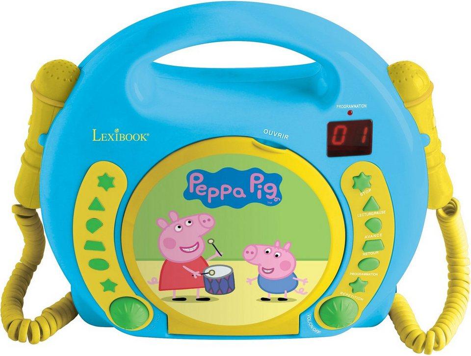 Lexibook, CD Player mit 2 Mikrofonen,  Peppa Pig