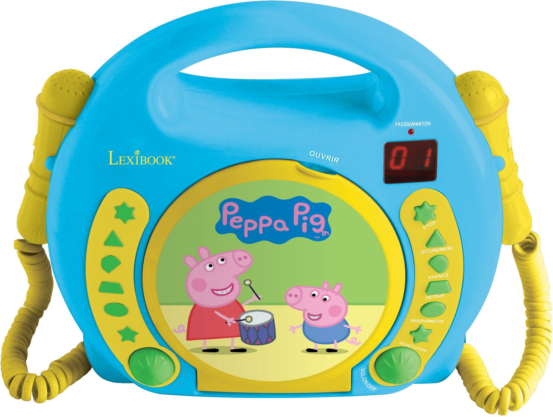 Lexibook, CD Player mit 2 Mikrofonen, »Peppa Pig«
