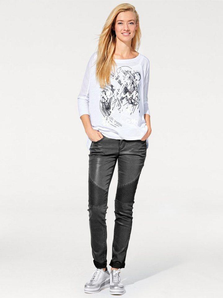 Shirt-Zweiteiler in weiß