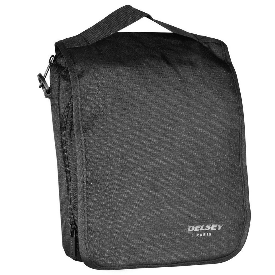 Delsey Accessoires Reporterbag Umhängetasche 19 cm in schwarz