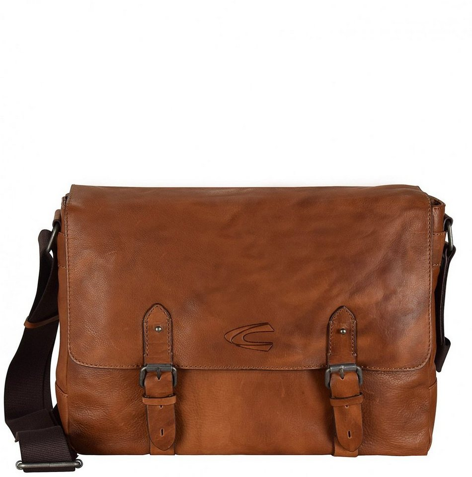 camel active Kansas Messeger Leder 38 cm Laptopfach in cognac