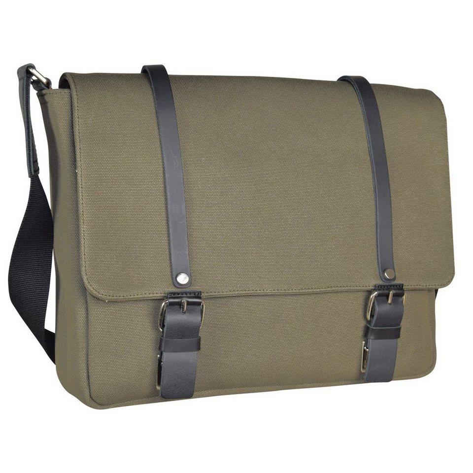 JOST Lund Messenger L Tasche 38 cm Laptopfach in oliv