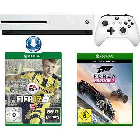 Xbox One S 500GB + Fifa 17 (DLC) + Forza Horizon 3 Konsolen-Set