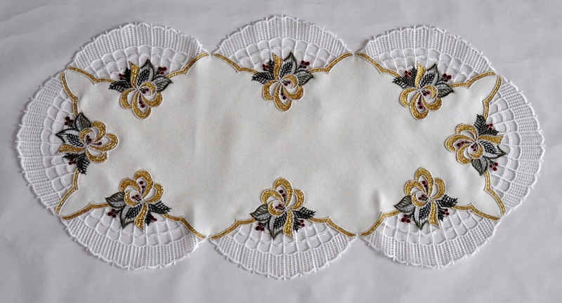 Stickereien Plauen Tischdecke »Glockenzauber«, rechteckig