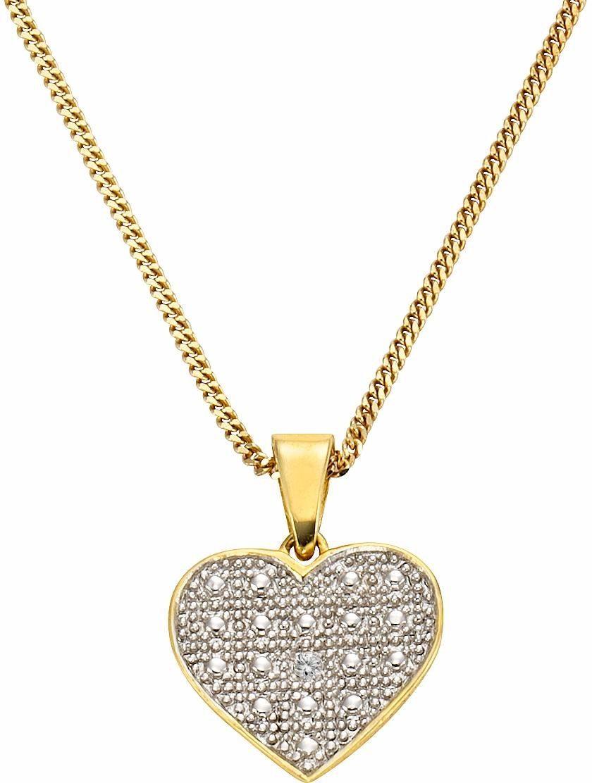 Firetti Kette mit Anhänger »Herz«, mit Diamant