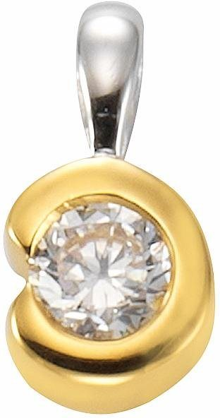 Firetti Kettenanhänger mit Zirkonia in Silber 925-goldfarben