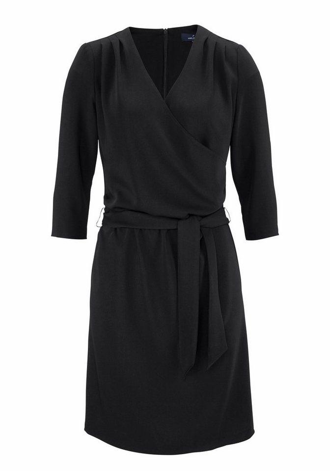 Daniel Hechter Jerseykleid in raffinierter Wickeloptik in schwarz